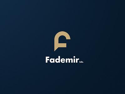 Fademir logo vector design logo design logotype logo flat branding