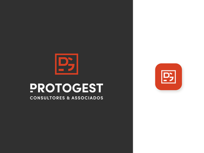 Protogest Logo consulting management logo design logo flat design branding