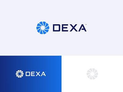 DEXA ERP software erp logotype logo design flat logo design branding