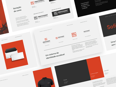 Protogest stylesguide styleguide business logo design logo flat design branding