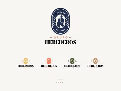 Herederos Logos business vector logotype logo design logo flat design branding
