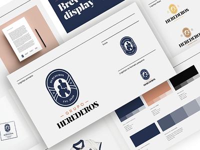 Herederos Stylesguide vector consulting business logotype logo logo design flat design branding