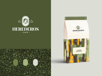 Herederos coffee coffee business vector logotype logo design flat logo design branding