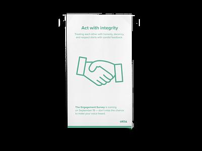 Okta Employee Engagement Survey color visual design visual graphic design digital design print design campaign design
