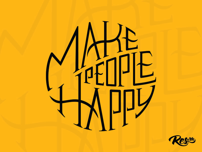 Custom Lettering ux typeface yellow design lettering typography quote
