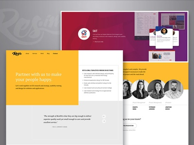 ResIM's site redesign clean typography company agency portfolio yellow website homepage ui design research ux