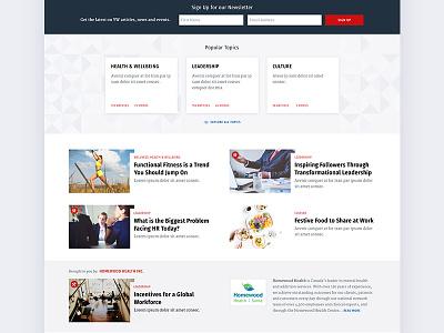 Wellness Publication Website clean ux ui website publication articles homepage magazine