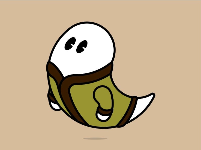 Excellent Cardigan - Ghost big eyes puke green excellent cardigan ghost