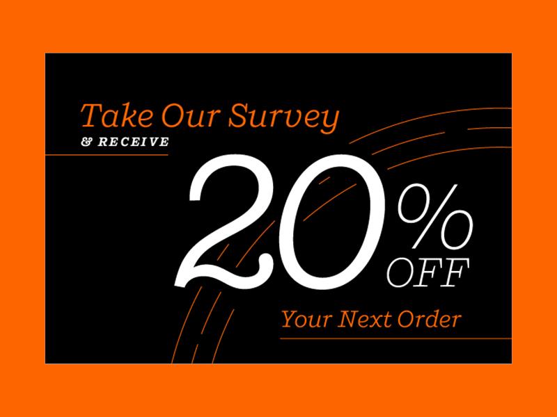 Loyalty Survey web email banner survey orange typography