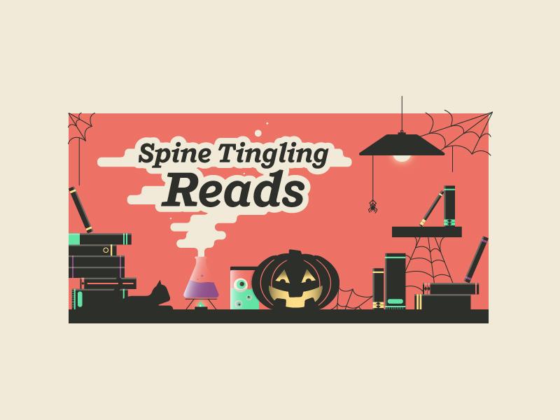 Spine Tingling Books books spider pumpkin spooky halloween