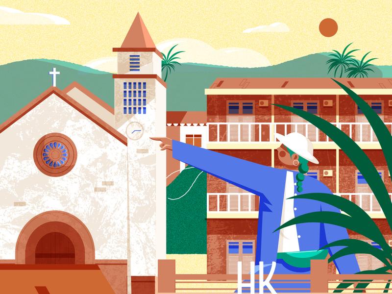 Bissau Walking around Guinea Bissau s laidback capital design minimal editorial editorial illustration vector illustrator illustration cultures culture