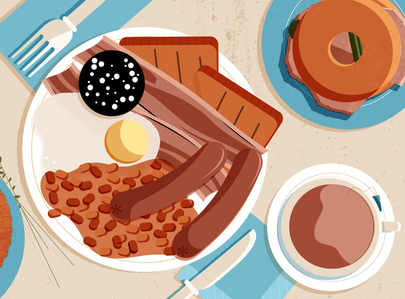 Top 10 Foods and Drinks You Have To Try In The United Kingdom food design minimal editorial editorial illustration vector illustrator illustration