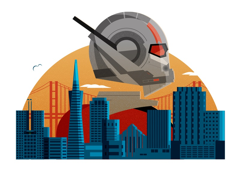 The Best Locations Featured in the Marvel Cinematic Universe endgame san francisco cityscape minimal illustrator vector illustration editorial illustration editorial ant-man marvel comics