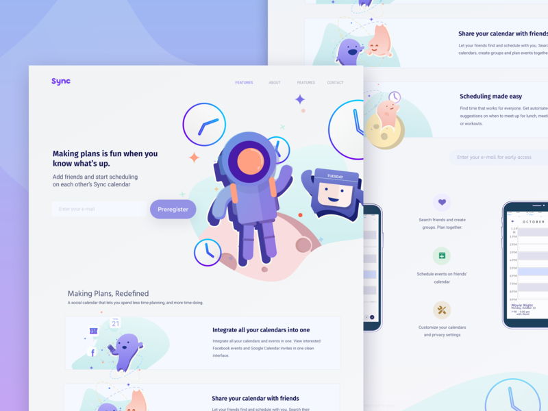 Calendar Startup Landing Page website header design flat vector art flat  design vector illustration landing page concept hero area branding startup landing page ui landing page design hero header svg landing page hero banner hero banner flat illustration