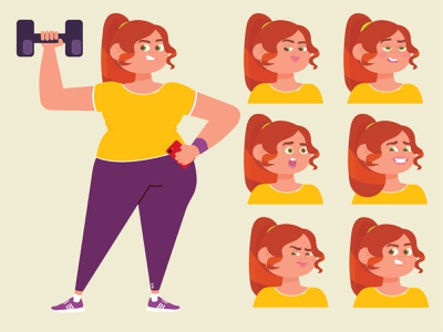 Expressions study fall colors women in illustration women design colorful artwork adobe illustrator character art creative character design illustrator cartoon illustration