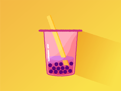 Bubble Tea cartoon design colorful bubble tea artwork creative art vector adobe illustrator illustrator illustration