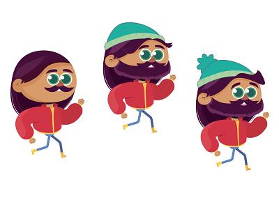 new character in progress artist bearded man hipster character concept artwork vector colorful design creative art character design adobe illustrator illustrator cartoon illustration