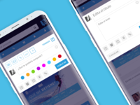 UX UI Post Module Study for Social Network