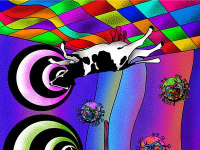 Chambre de quarantaine adobe procreate fineart digitalart popsurrealart lowbrowart i̇llustration
