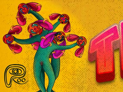 NMBT-YHC caracterdesign popsurrealart photoshop color art procreate mockup hello dribbble lowbrowart graphic design digital art