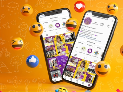 Kindergarten Social Media Post Template social media design freelance yellow elephant purple free socialmediatemplate post socialmedia branding adobe design photoshop mockup hello dribbble graphic design illustration digital art