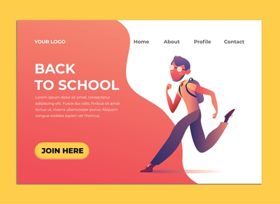 BACK TO SCHOOL ILLUSTRATION LANDING PAGE