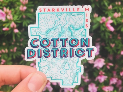 Cotton District Sticker