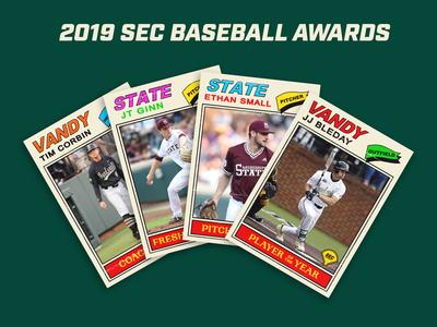 2019 SEC baseball award cards