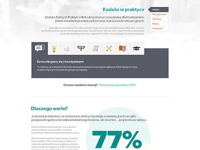 Friendly recruitment project website design flat web design project orange colorful simple clean