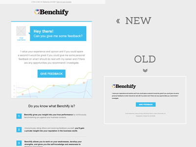 Mailing Dribbble webdesign design mail email newsletter mailing clean simple blue redesign