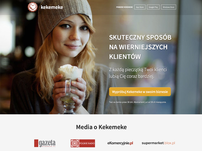 Kekemeke - small redesign webdesign redesign design clean website simple web web design smile friendly product page onepage