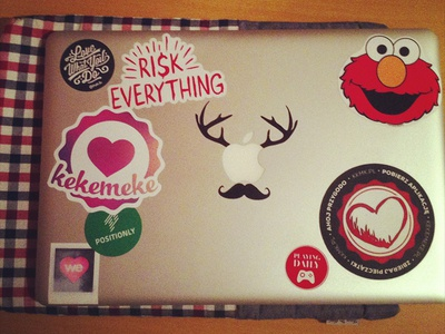 Sticker Collector sticker mbp computer startup fun laptop