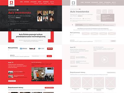 Aula Polska - complete redesign (mockup/design) webdesign mockup flat responsive design information uxui clean