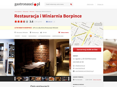Gastronauci webdesign redesign simple restaurant opinion review map information