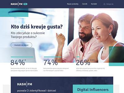 HashBiz onepage landing onepage webdesing design simple startup