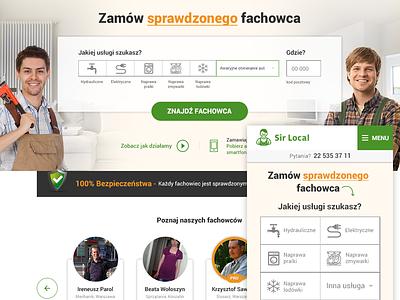 SirLocal redesign webdesign design rwd responsive warm service