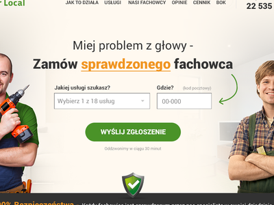 SirLocal - rejected version webdesign design rwd responsive warm service