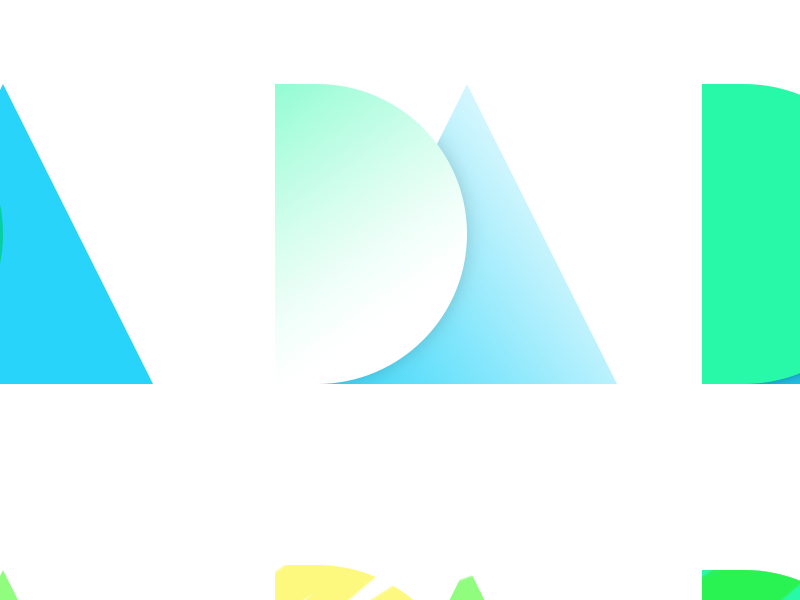 Quick Initials Exploration id fun initials gradients explore