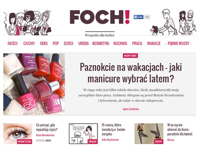 Foch news girly woman flat web ui webdesign