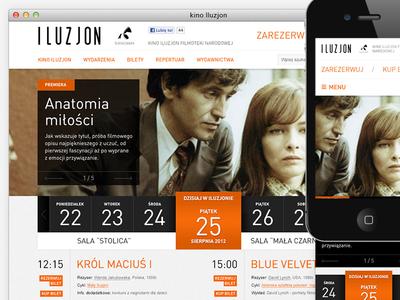 Iluzjon mobile responsive rwd cinema web ui webdesign
