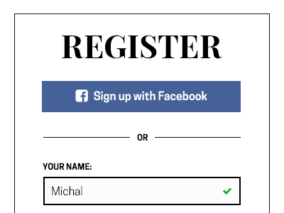 Register form responsive rwd playfair clean style fashion form register