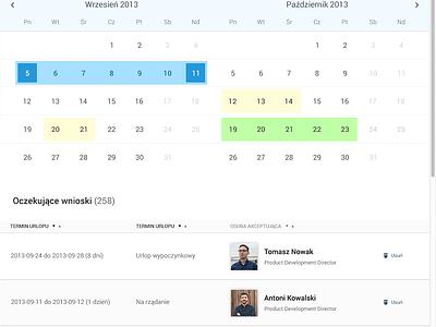 Calendar exploration saas vacation calendar ui