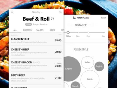 Mobile App Wireframes food restaurant menu mobile iphone ios hi-fi hifi mockup wireframes app