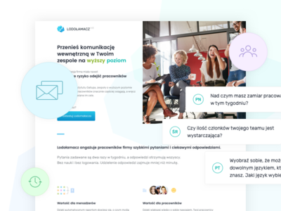 Icebreaker HR web business hr icons startup clean ui design website landing