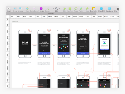 Appflow research planning experience flow sketch ux design app appflow mobile