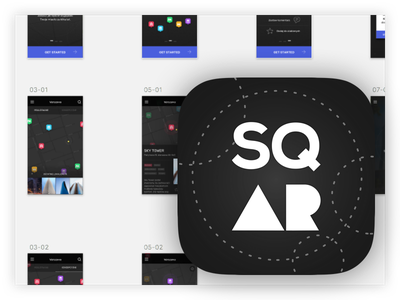 sqAR app icon app ar clean dark design app icon ios mobile