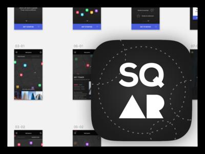 sqAR app icon app ar clean dark design app icon ios mobile