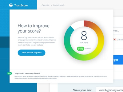 Dashboard for TrustScore
