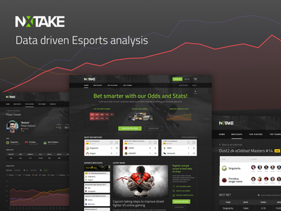NXTAKE full presentation project presentation grey black top list webdesign esport esports table dark ui