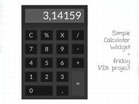 Simple Calculator Widget